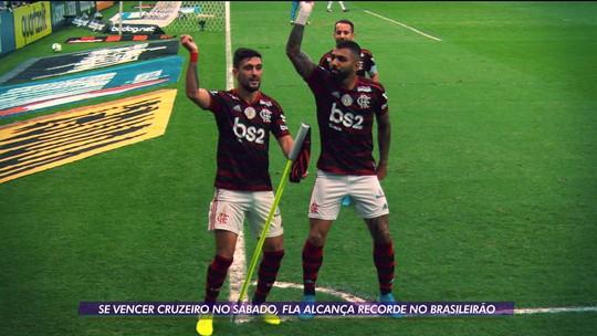 Globo Esporte: Fla pega o Cruzeiro de olho em recorde no Brasileirão