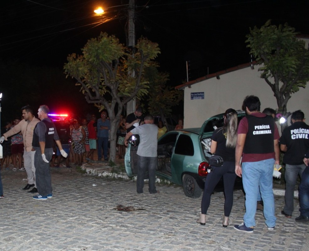 Túlio Matheus foi morto dentro de carro — Foto: Marcelino Neto/O Câmera