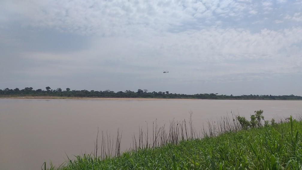 Busca por vítimas será retomada no domingo (8), segundo os Bombeiros.  — Foto: Rede Amazônica/Reprodução