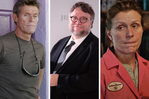 Willem Dafoe, Guillermo del Toro e Frances McDormand, por exemplo, já possuem muito trabalho após o fim da cerimônia (Foto: Getty Images/Reprodução)