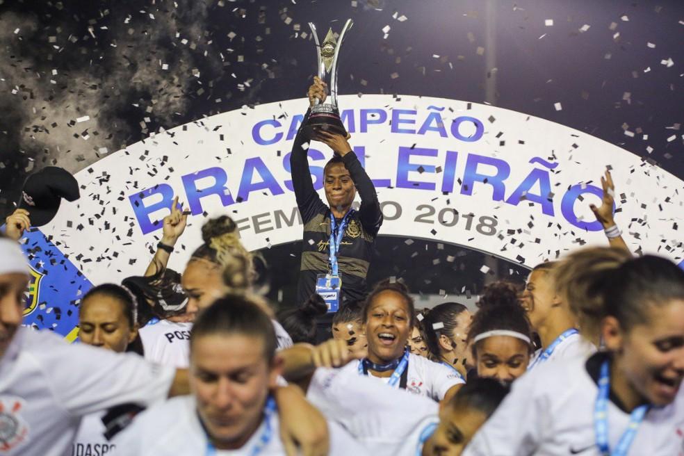 Corinthians foi campeão brasileiro feminino de 2018 — Foto: Bruno Teixeira/Agência Corinthians