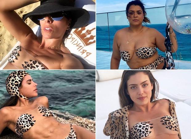 Adriane Galisteu, Preta Gil, Marina Morena e Victoria Grendene têm biquíni avaliado em mais de 2 mil reais (Foto: Reprodução/Instagram)