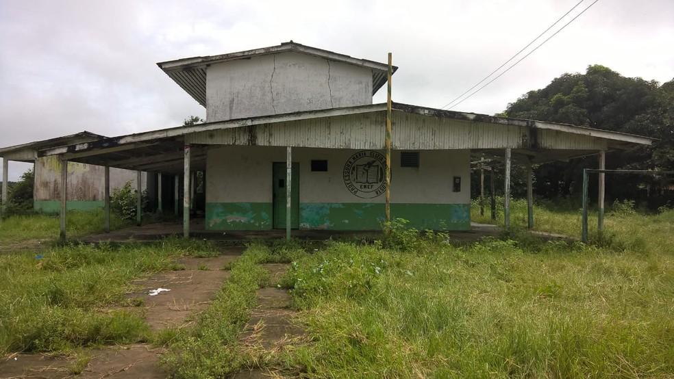 -  Escola Municipal Maria Elise Brito da Costa, no município de Amapá, está em estado de abandono  Foto: Beatriz Reis/Arquivo Pessoal