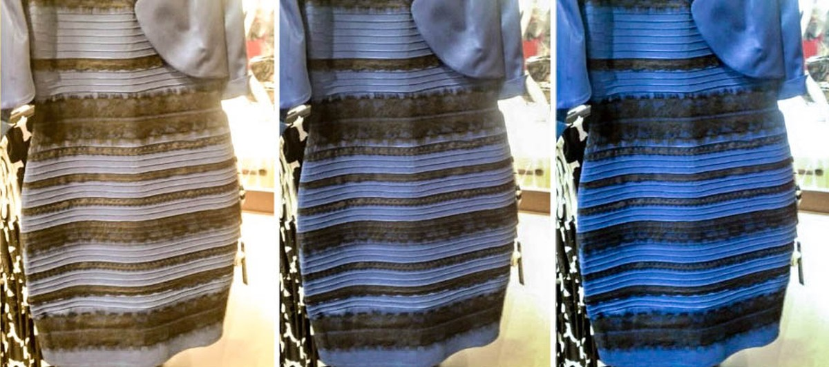 Azul e preto ou branco e dourado? Ciência desvenda o que pode fazer você ver vestidos diferentes