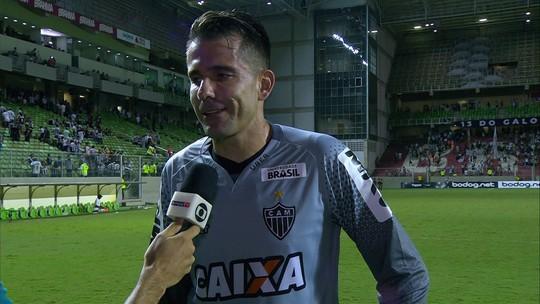 Victor festeja boa atuação pelo Atlético-MG contra o Figueirense
