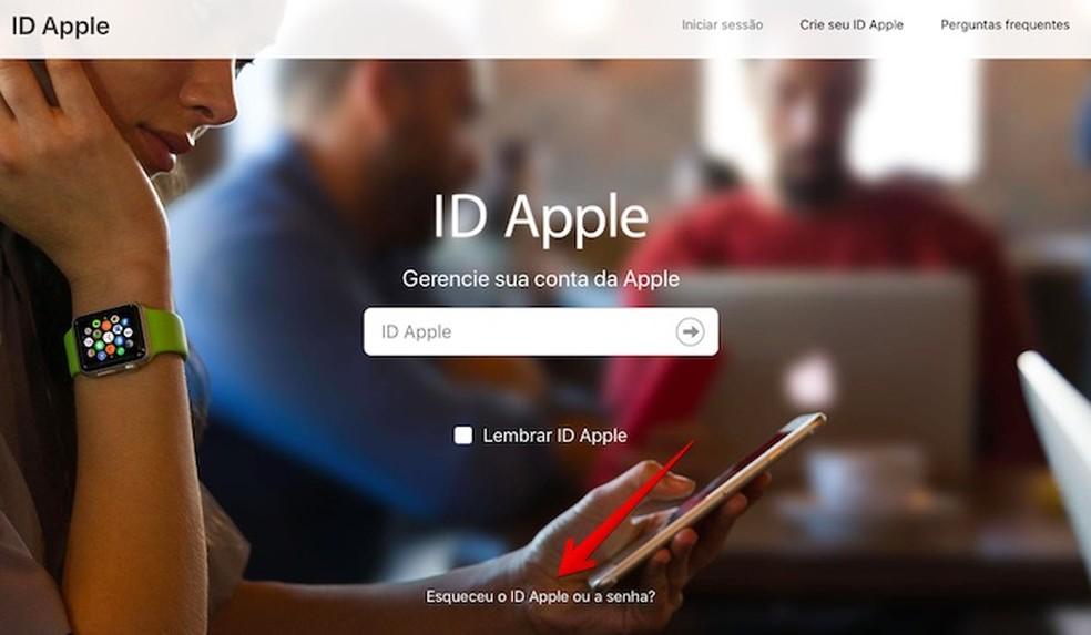 Recuperando senha do iCloud — Foto: Reprodução/Helito Beggiora