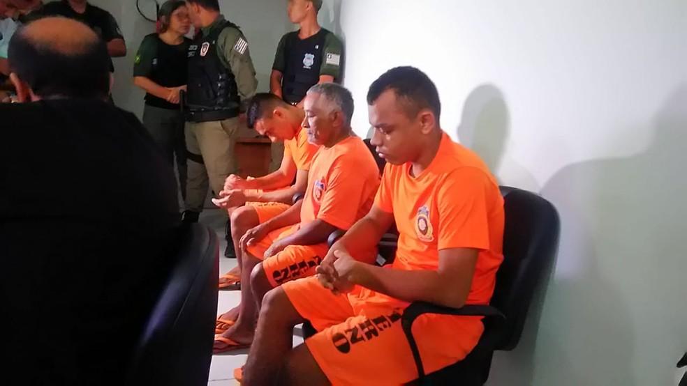 Acusados de assassinar uma criança e um adolescente em Bacabeira vão a julgamento no Fórum de Justiça de Rosário — Foto: Laís Rocha/TV Mirante