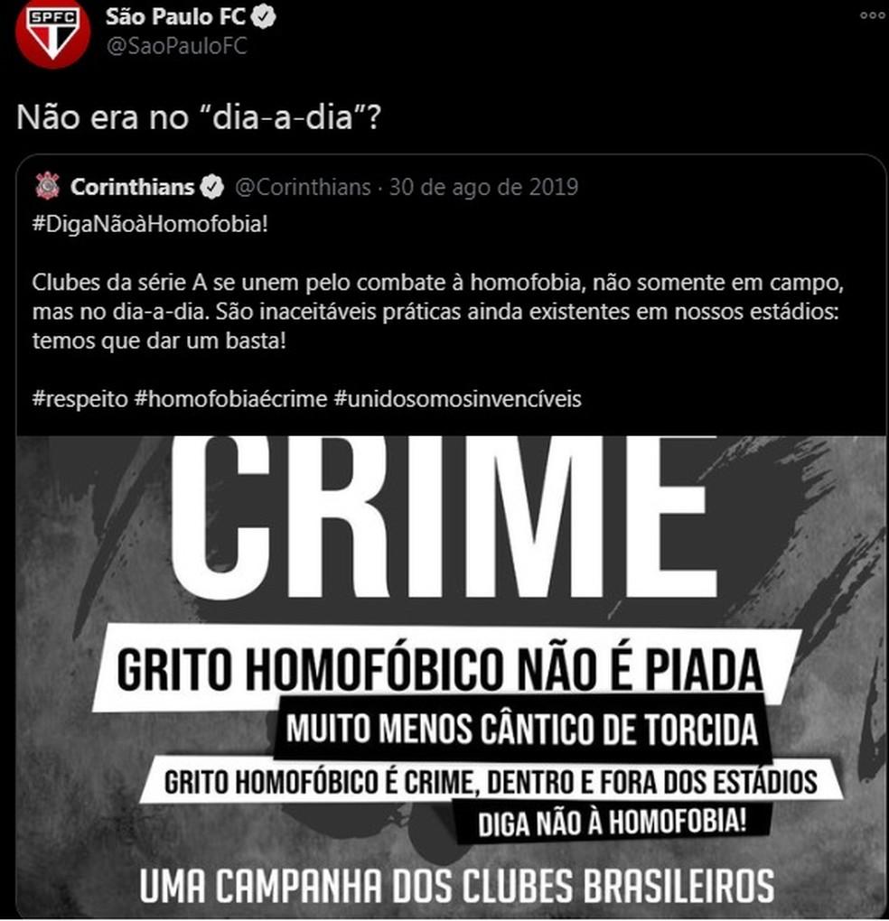 São Paulo Corinthians — Foto: reprodução