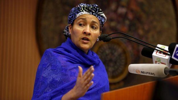Amina assumiu o cargo nas Nações Unidas em fevereiro de 2017 (Foto: Reuters via BBC News Brasil)