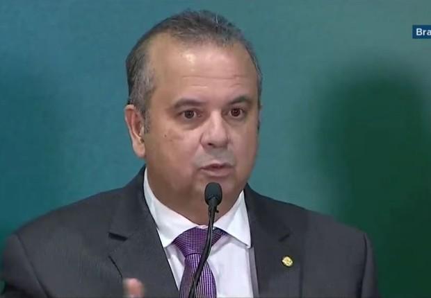 O secretário especial de Previdência e Trabalho, Rogério Marinho, durante entrevista coletiva para detalhar a reforma da Previdência (Foto: Reprodução/NBR)