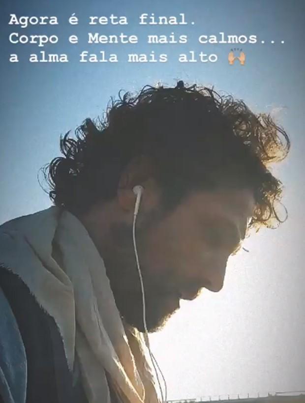 Igor Rickli durante a caminhada até Santiago de Compostela (Foto: Reprodução/Instagram)