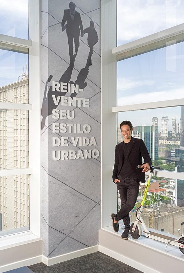 """Alexandre Lafer Frankel: """"Sou o cara mais inconformado com o nosso setor, a começar pelos prédios beges"""" (Foto: Christian Maldonado)"""