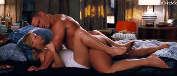 Cena do filme Descompensada (2015), com John Cena e Amy Schumer (Foto: Divulgação)
