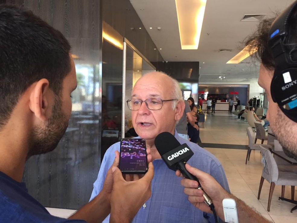 Romildo Bolzan, presidente Grêmio — Foto: Fernando Becker/RBS TV