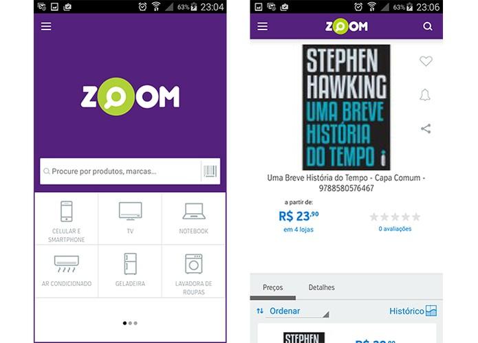 Zoom busca o preço do produto em diferentes lojas online (Foto: Reprodução/Barbara Mannara)