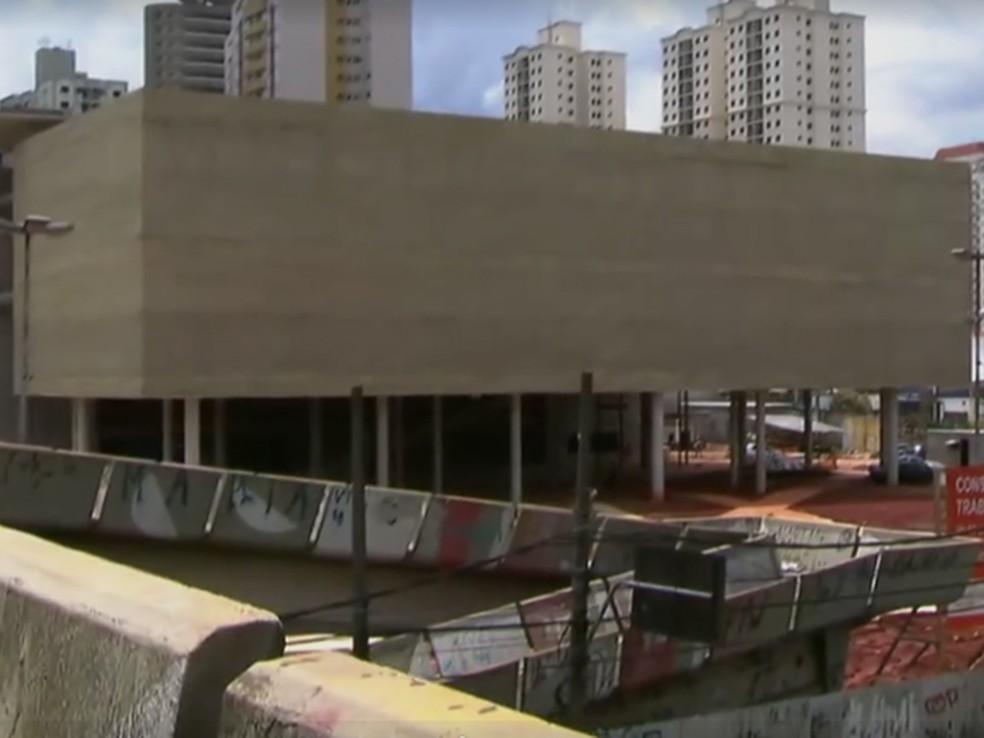 Obras do Museu do Trabalho e do Trabalhador (Foto: Reprodução/ TV Globo)