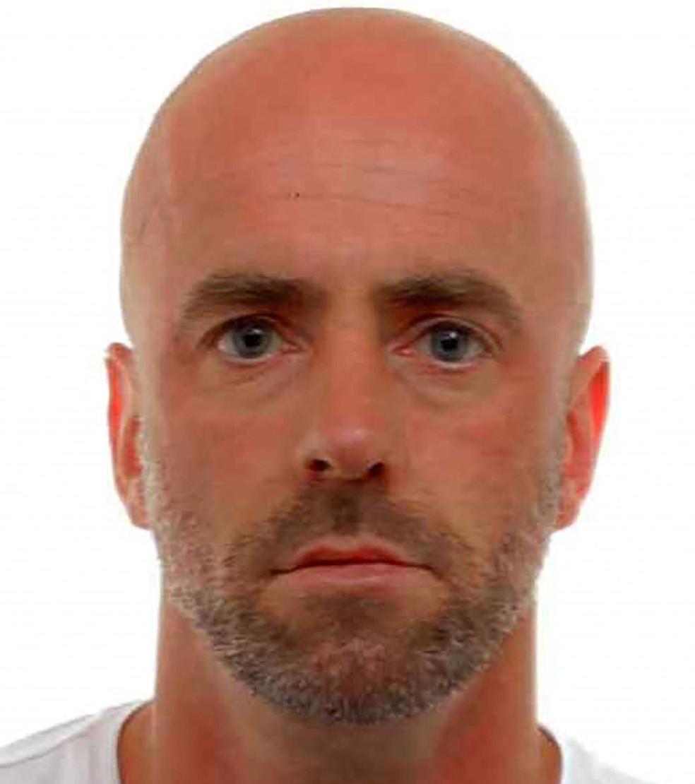Jürgen Conings, de 46 anos, em foto divulgada pela Polícia Federal Belga em 19 de maio — Foto: Handout/Belgian Federal Police/AFP