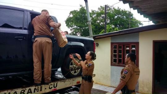 Polícia Militar encontra quase uma tonelada de maconha em Campo Bonito