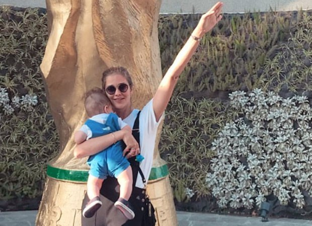 Ana Beatriz Barros e filho (Foto: Reprodução)