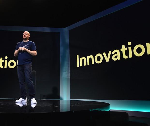 Daniel Ek, CEO do Spotify, anuncia as novidades do aplicativo em Nova Iorque (Foto: Divulgação)