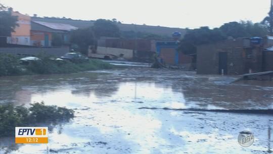 Chuva com ventos fortes e queda de granizo atinge cidades do Sul de MG e causa alagamento