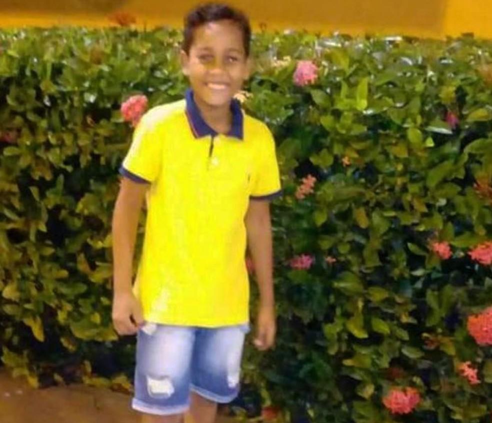 Hebert Filipe de 11 anos morreu após ser baleado em Camaçari — Foto: Arquivo Pessoal