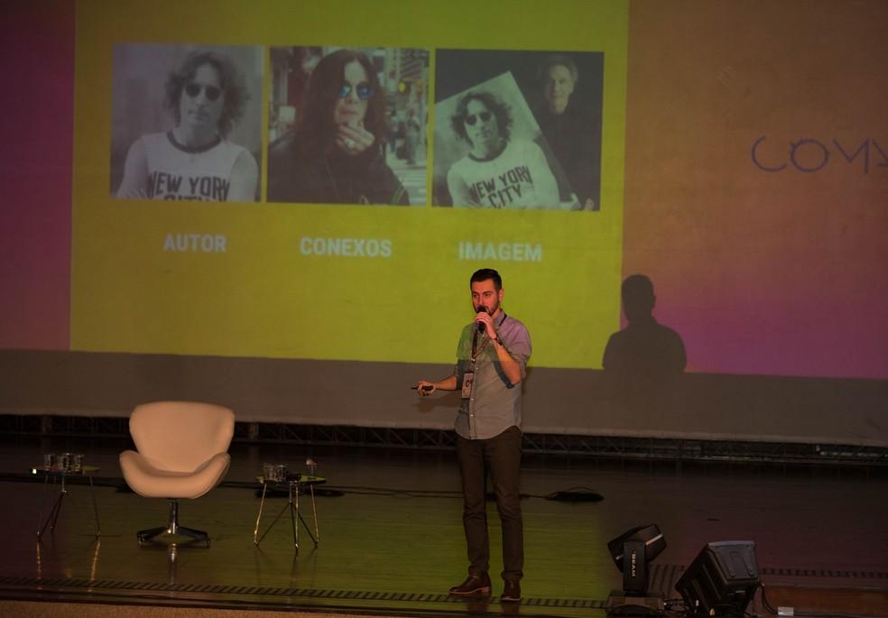 Conferência do Festival CoMA, em Brasília — Foto: Nagô/Divulgação