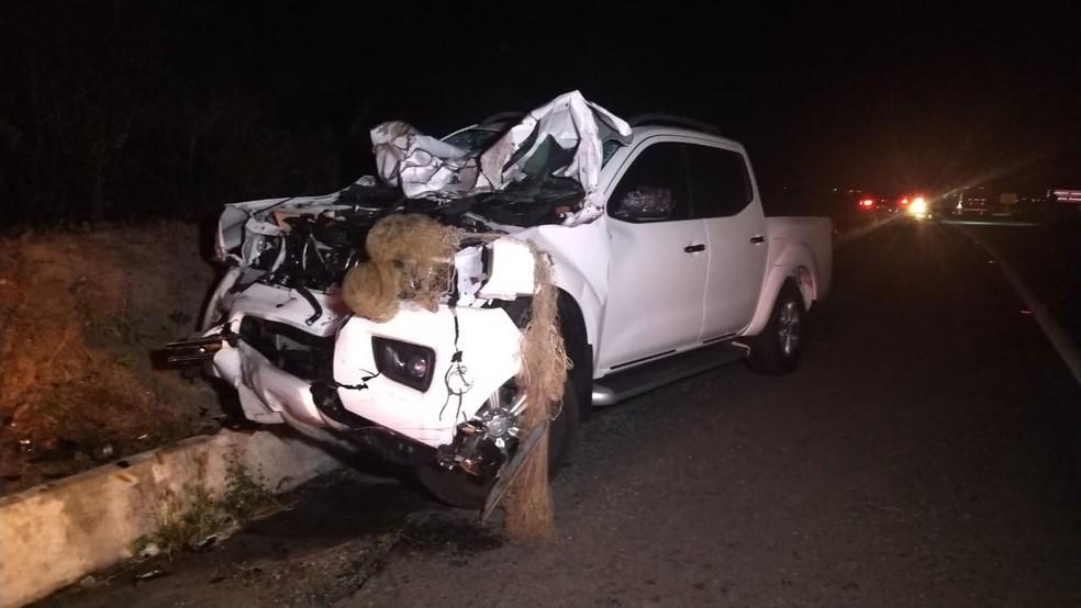 Acidente entre carroça e caminhonete deixa quatros mortos em Campina Grande — Foto: Sandra Paula/TV Paraíba