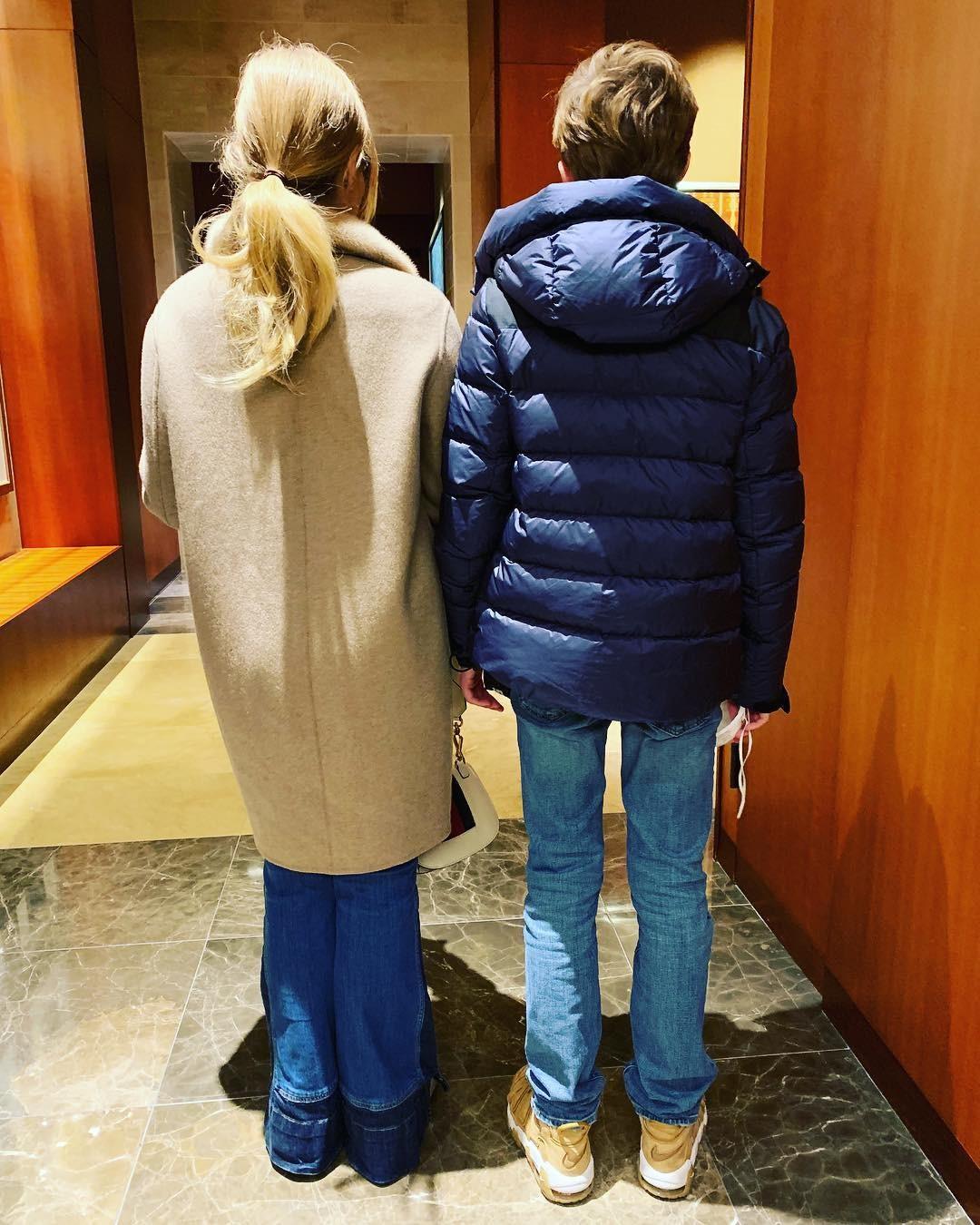 Angelica e Joaquim, em clique de Luciano Huck (Foto: Reprodução / Instagram)
