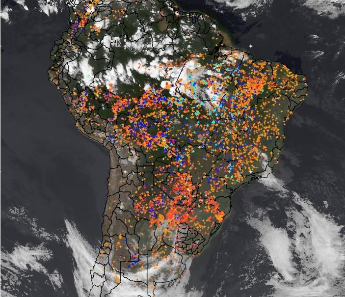 mapa-inpe-queimadas (Foto: Inpe)