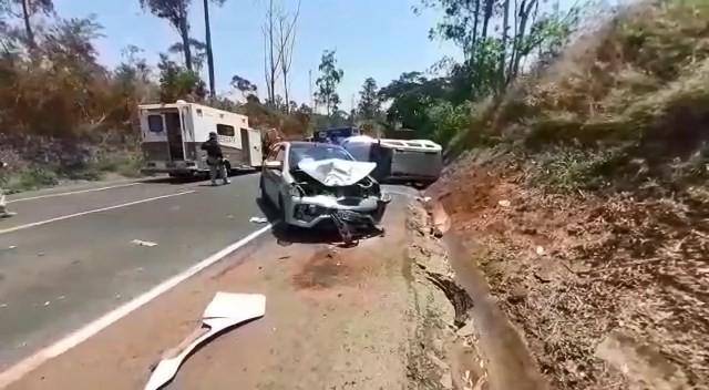 Acidente com engavetamento e morte é registrado na BR-262, entre Uberaba e Araxá - Notícias - Plantão Diário