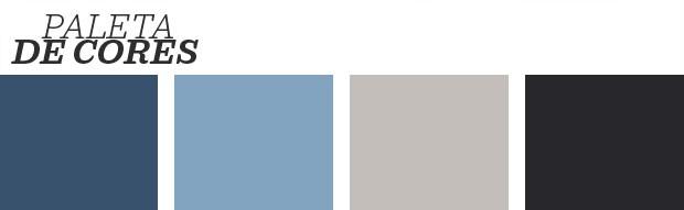 Décor do dia: sala de estar em tons de cinza e azul (Foto: Reprodução)