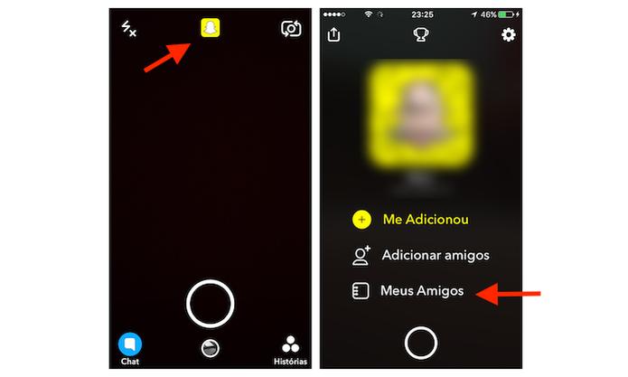 Acesso para lista de amigos do Snapchat (Foto: Reprodução/Marvin Costa)