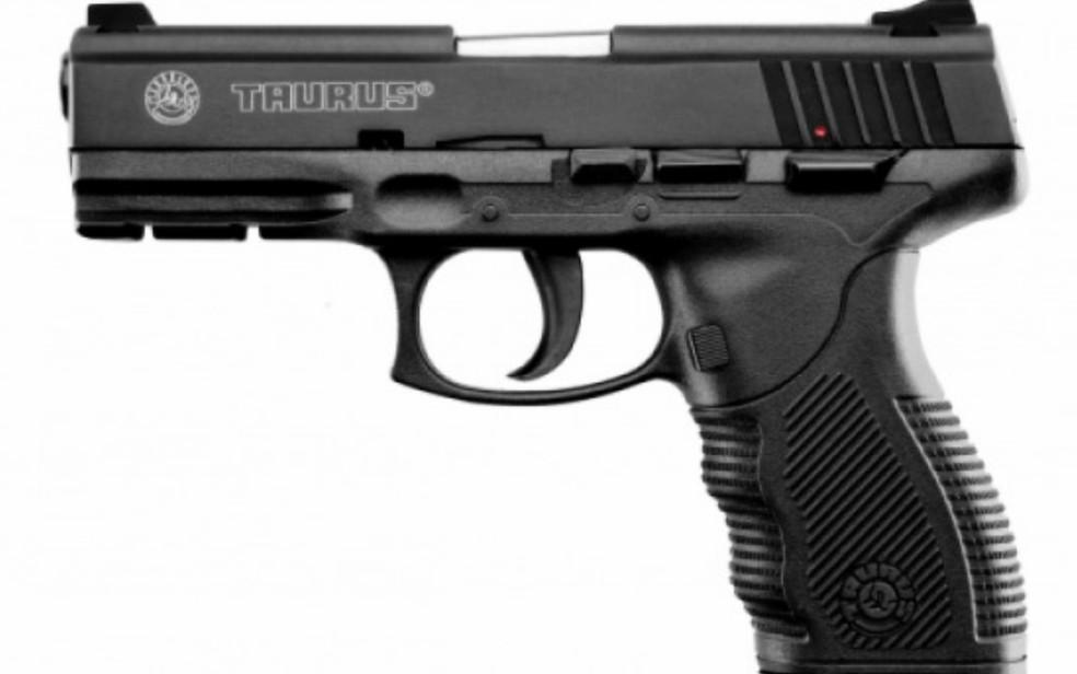 Pistola PT 24/7 PRO D da fabricante Taurus, em Goiânia, Goiás (Foto: Reprodução)