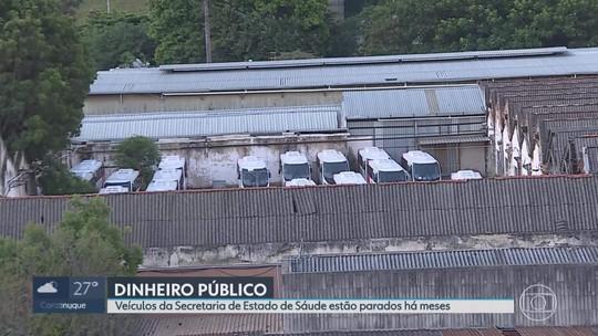 Frota de veículos da Secretaria de Estado de Saúde de Minas Gerais está parada desde metade de 2018
