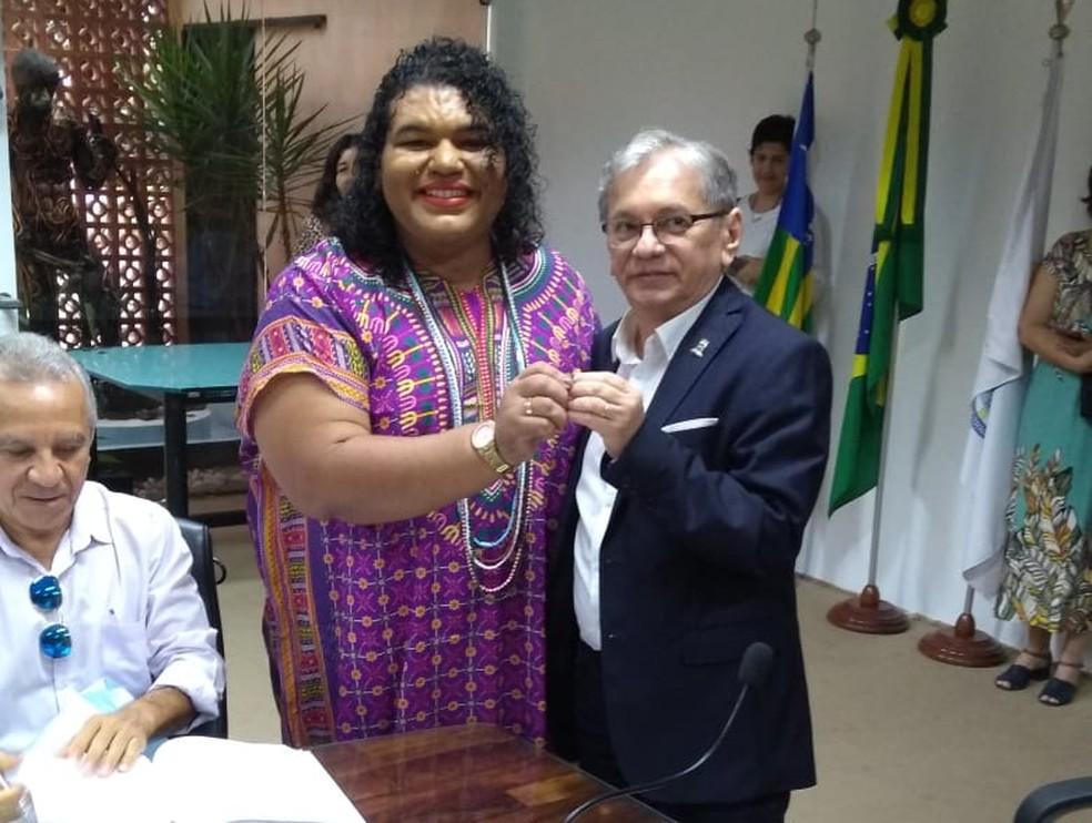 Letícia Caroline Pereira do Nascimento foi empossada professora da UFPI nesta segunda-feira (25) — Foto: Arquivo Pessoal