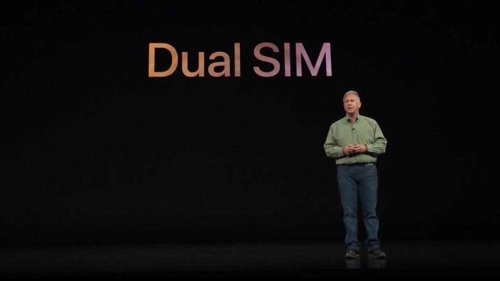 Novos iPhone de 2018 terão suporte a Dual SIM e eSIM — Foto: Reprodução/Apple