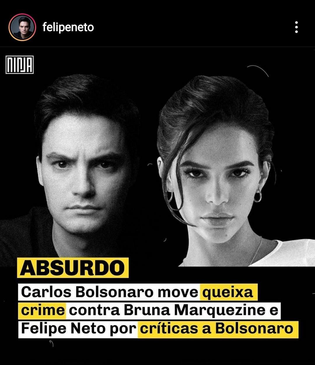 Felipe Neto e Bruna Marquezine