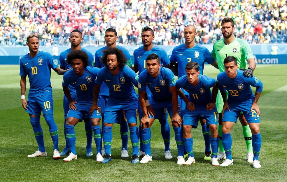 Brasil não terá mudanças para a partida contra a Sérvia (Foto: REUTERS/Max Rossi)