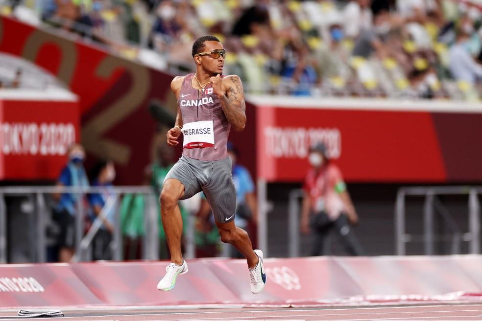 Andre de Grasse nas Olimpíadas de Tóquio — Foto: Cameron Spencer/Getty Images