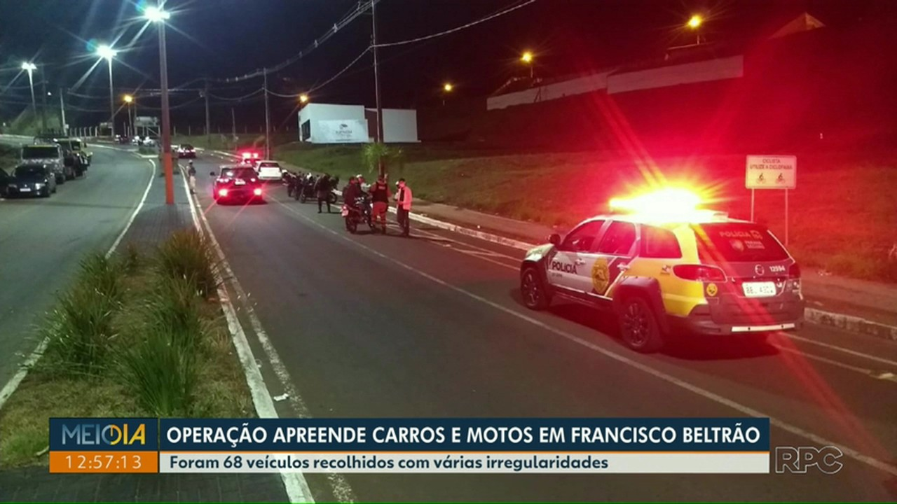 Mais de 60 veículos foram apreendidos em blitzes em Francisco Beltrão