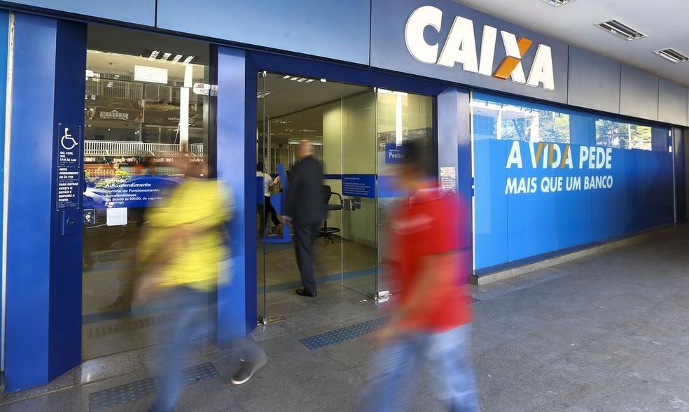 Fachada de agência da Caixa Econômica Federal, em Brasília — Foto: Marcelo Camargo/Agência Brasil