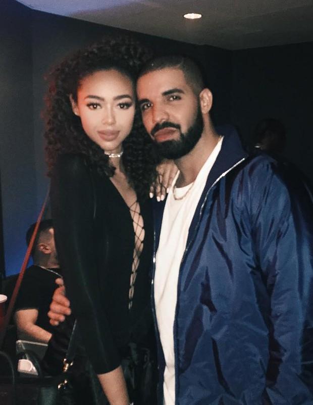 Drake e Bella Harris (Foto: Reprodução/Instagram)