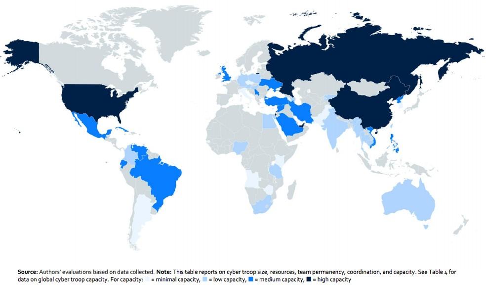 Pesquisa da Universidade de Oxford mostra o Brasil com capacidade média de disseminação de informações na Internet (Foto: Divulgação)
