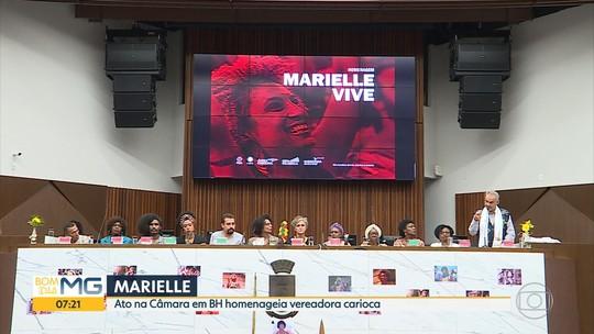 Ato na Câmara de Belo Horizonte homenageia vereadora Marielle Franco