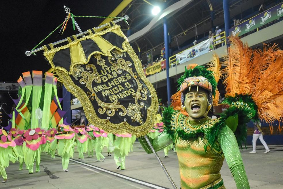 Associação Carnavalesca Xodó da Nega Carnaval Belém 2020 — Foto: Fernando Sette/Comus
