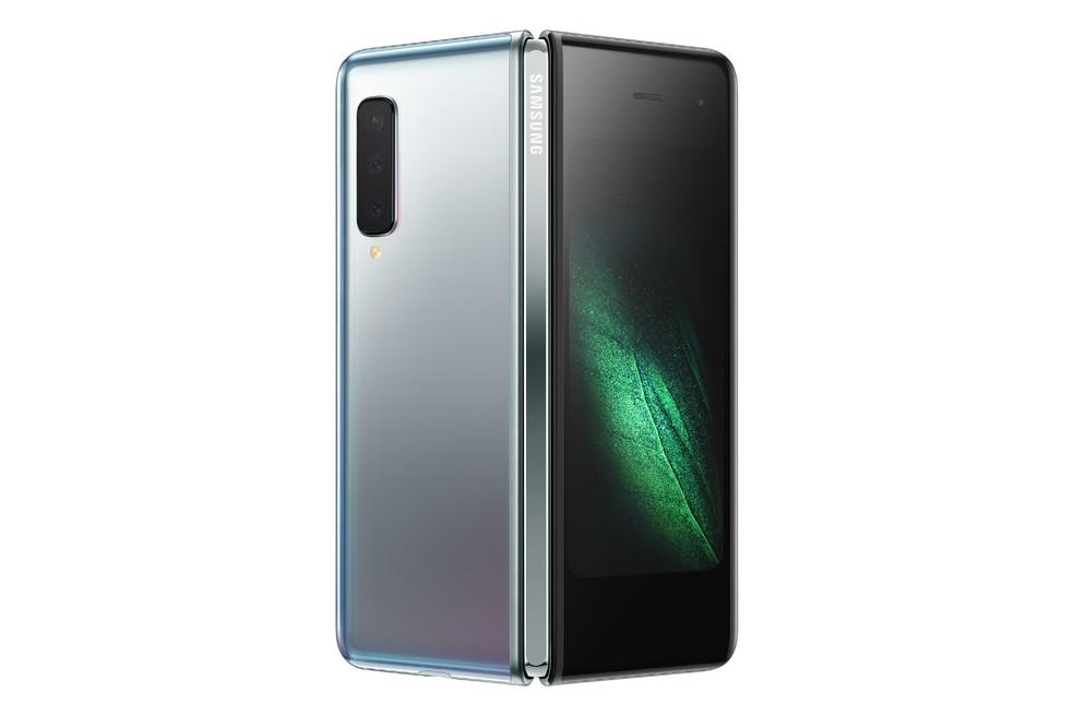 eca15417f Foto: Divulgação/Samsung Galaxy Fold tem duas telas e 6 câmeras. — Foto:  Divulgação/Samsung