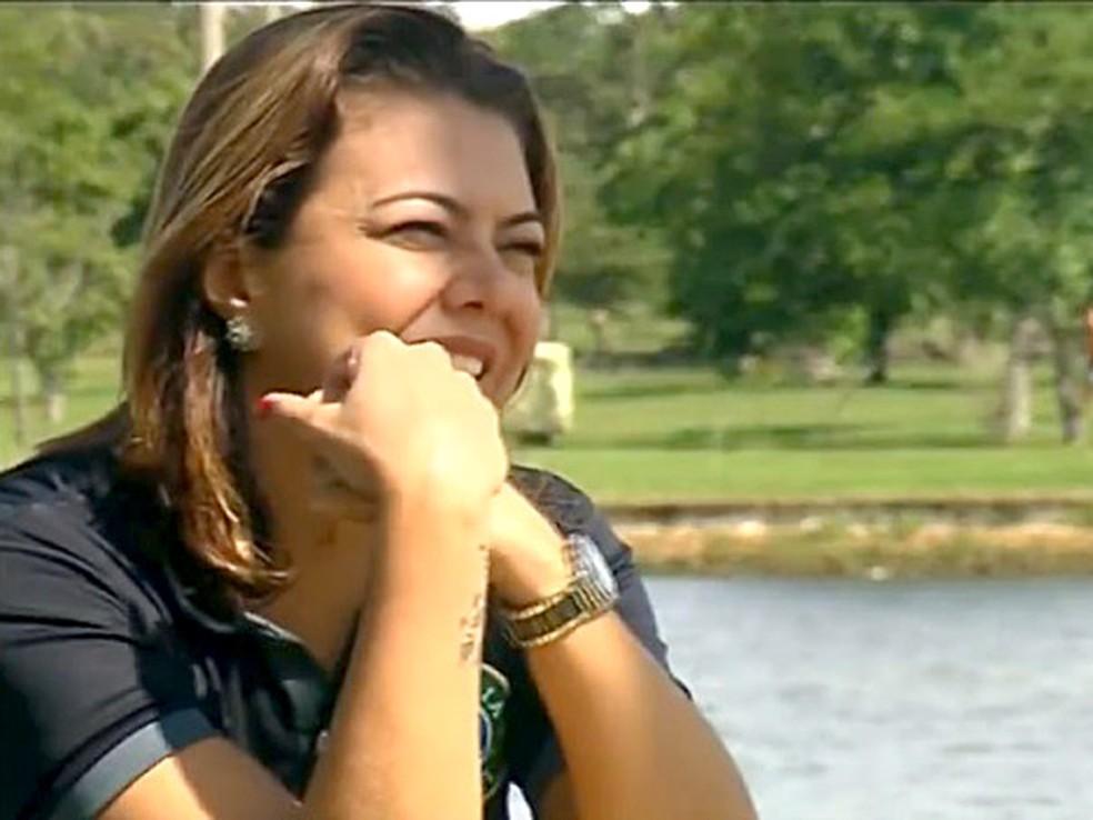 A ex-jogadora de vôlei Leila, primeira eleita — Foto: TV Globo/Reprodução