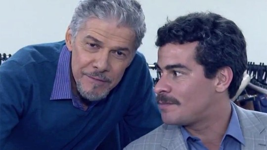 José Mayer comemora seu primeiro vilão e elogia o parceiro Thiago Martins