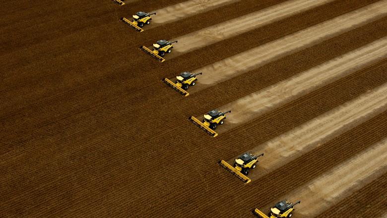 colheita-soja-mato-grosso (Foto: José Medeiros/Ed. Globo)